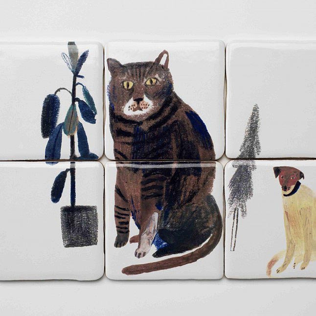 Hand-Painted-Tiles-Cat-Dog-Laura-Carlin-the-new-craftsmen-0021-646x646