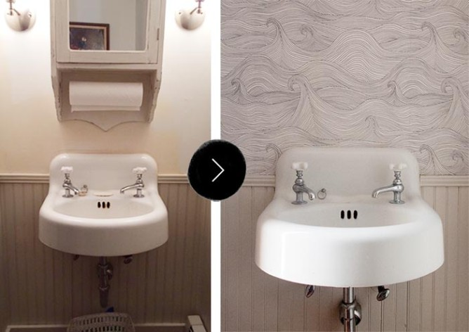 Our downstairs bathroom makeover design sponge bloglovin - Design sponge bathrooms ...