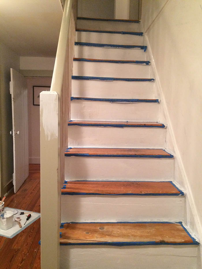 Our Diy Stair Makeover Paint Runner Design Sponge
