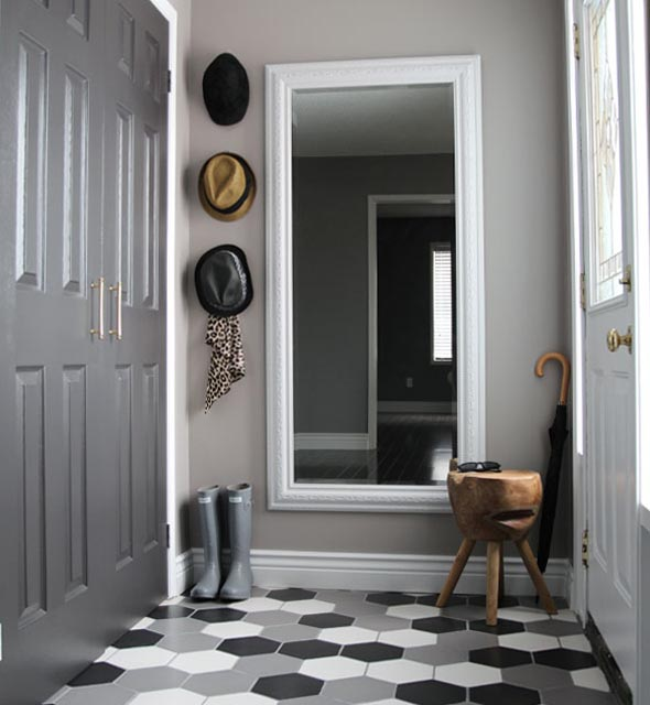 Front Entryway Decorating Ideas The Design Twins: Before & After: Sabrina's Front Foyer