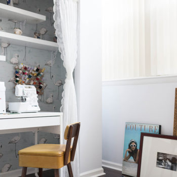 Before & After: A Small Nook Becomes a Sewing Station