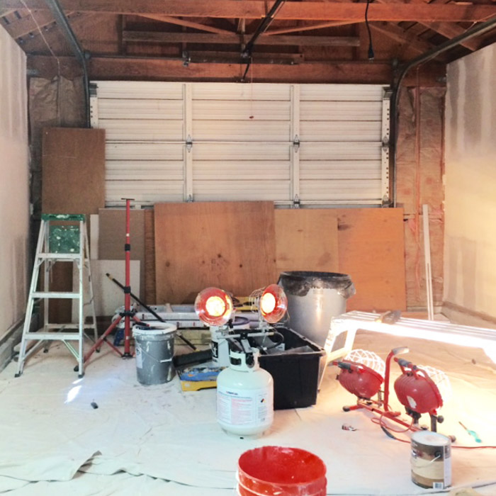 Before & After: Garage Becomes a Beautiful Studio Space, Design*Sponge
