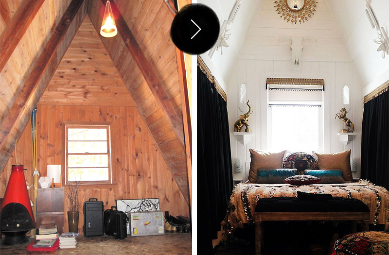 Before & After: A-Frame Cottage, on Design*Sponge
