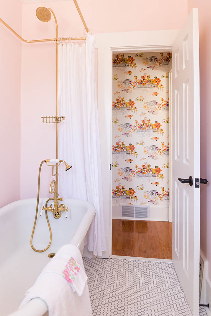 Before Amp After All Hail The Pink Bathroom Design Sponge