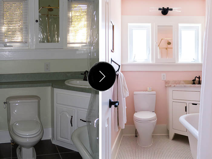 Before After All Hail The Pink Bathroom