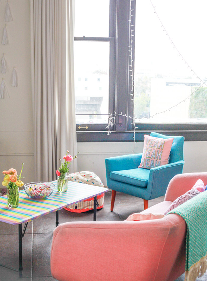 An LA Loft with Gutsy Glitter and Sparkle, Design*Sponge