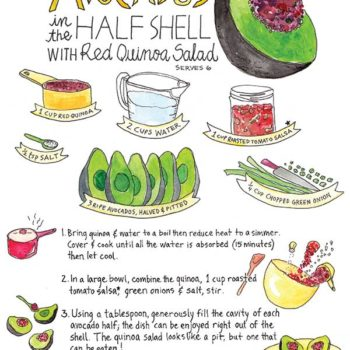 In the Kitchen With: Marcella Kriebel's Avocados in the Half Shell