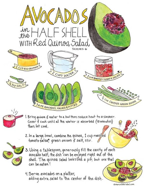 Avocados-in-the-half-shell