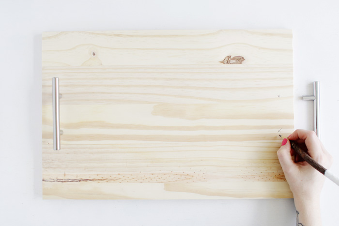 DIY Pine Serving Tray 2