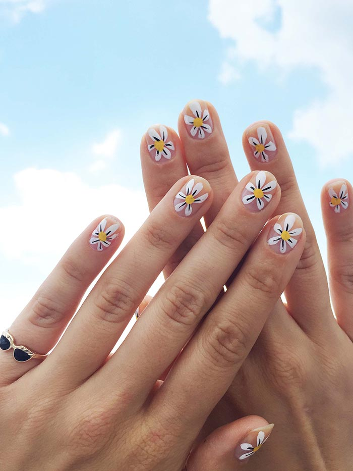 DIY Daisy Nail Art by Jessica Washick – Design*Sponge