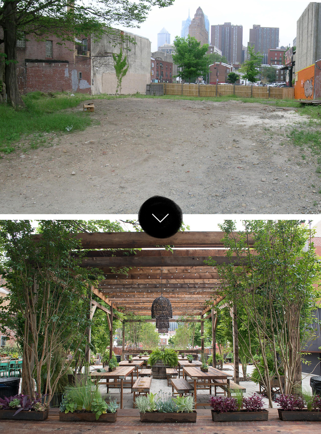 Before & After: South Street Philadelphia Pop-Up Garden, on Design*Sponge