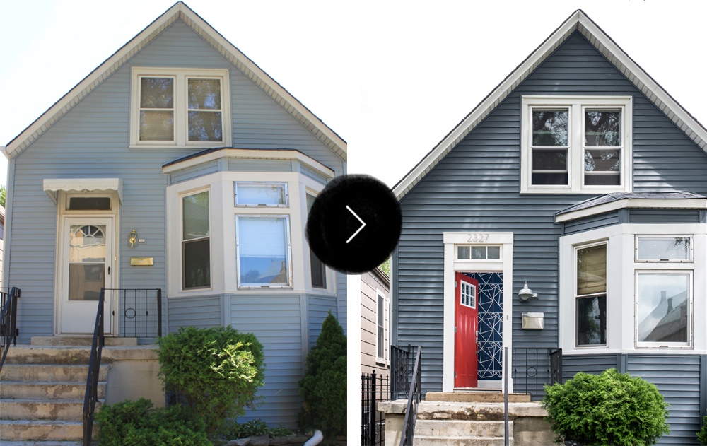 Before After A Logan Square Stunner For The Color Averse on Entryway Home Interior Design