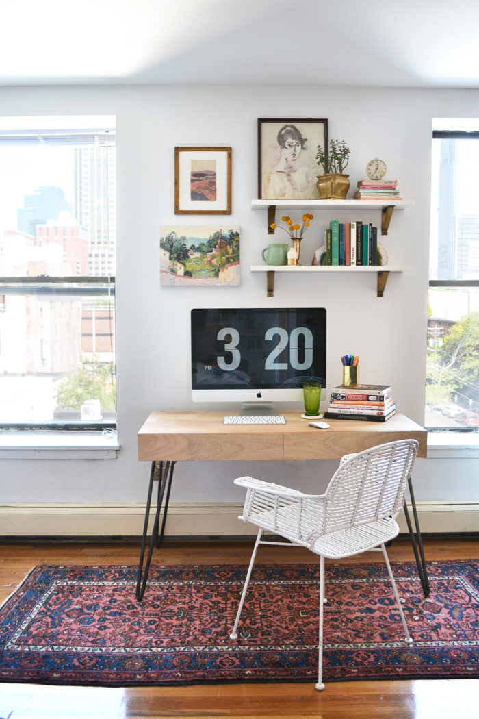 Overlooking NYC, A Lofted Studio Filled with History, Heirlooms and Happiness