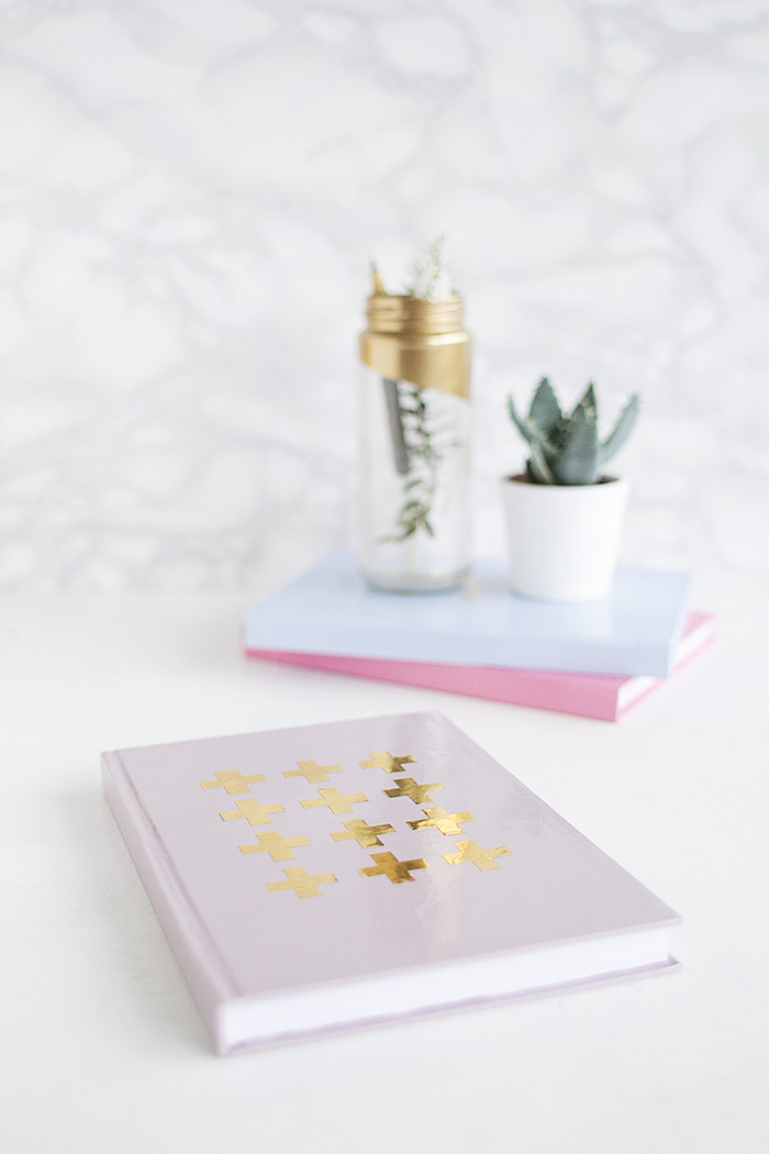 DIY Gold Detail Notebooks