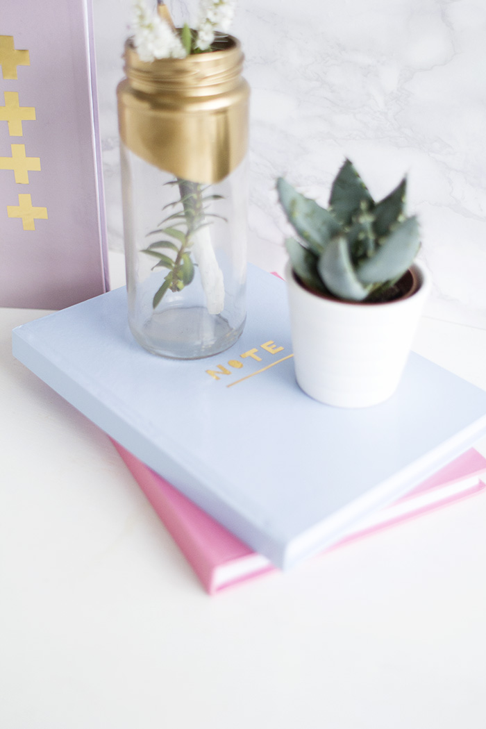 DIY Gold Detail Notebooks 16