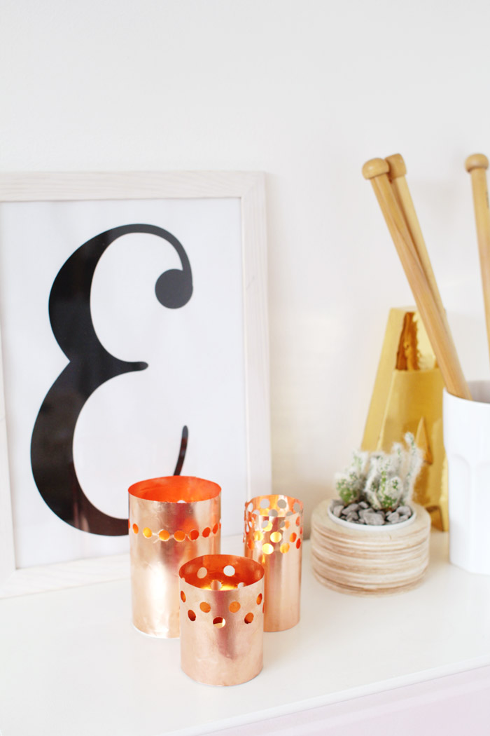 DIY Punched Copper Votives 13