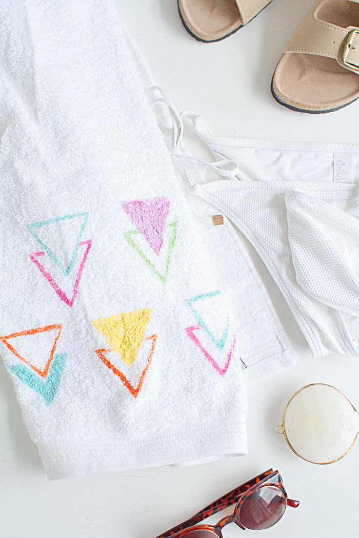 DIY Stencilled Beach Towel