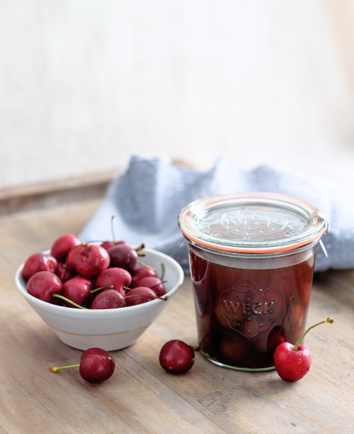 In the Kitchen With: Emily Han's Cherry Bounce and Balsamic Shrub, on Design*Sponge