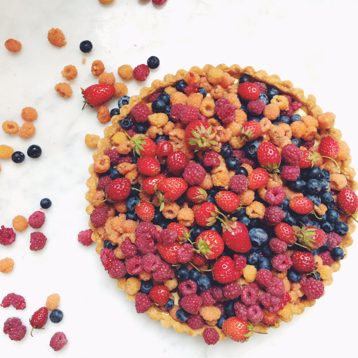 fresh mixed berry tart - berries from the Zacheries