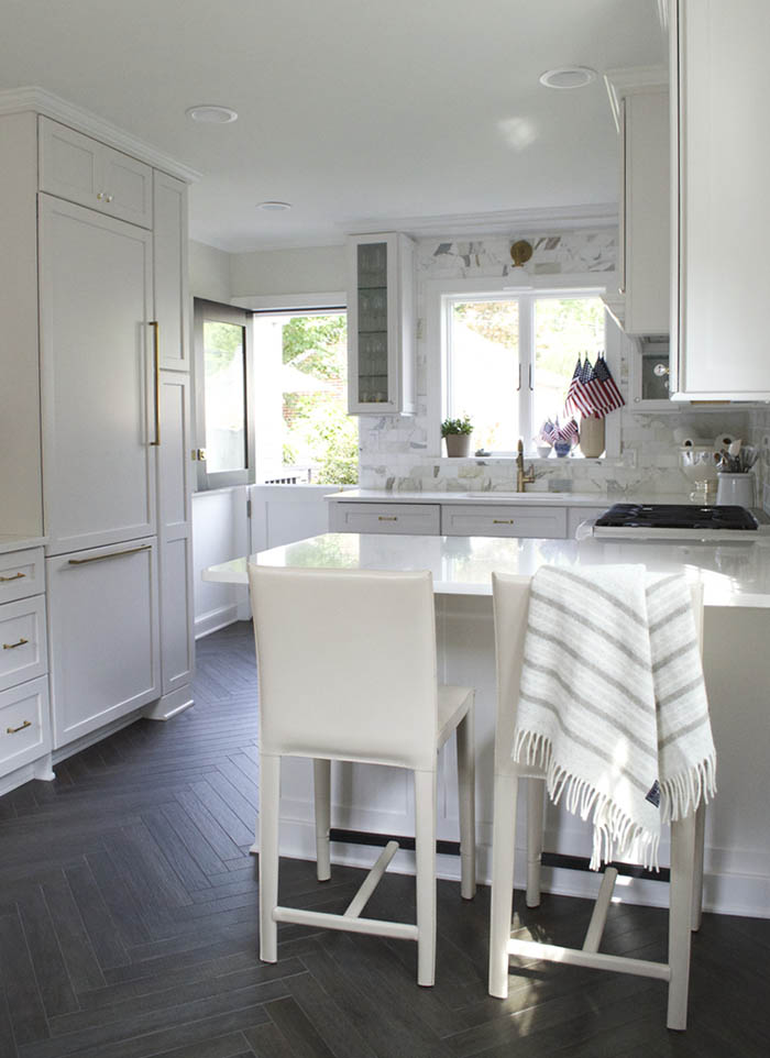 A beloved family home in washington d c design sponge for All white kitchens with wood floors