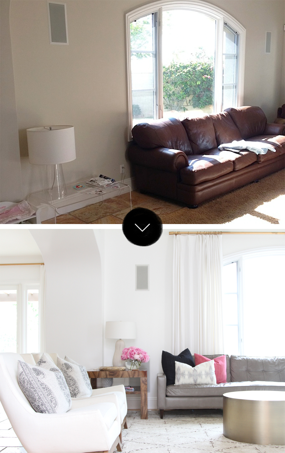 Before After A San Clemente Tuscan Tract House On DesignSponge