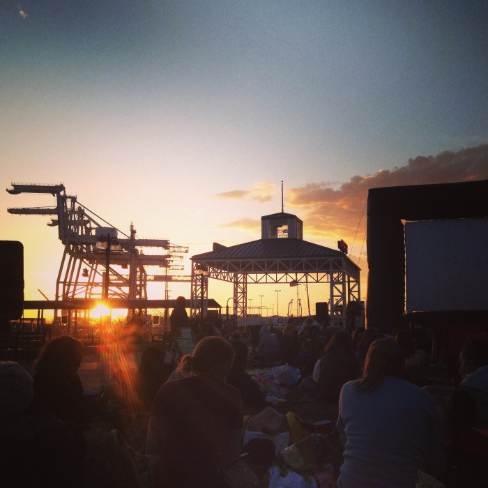 outdoor movie at jack london