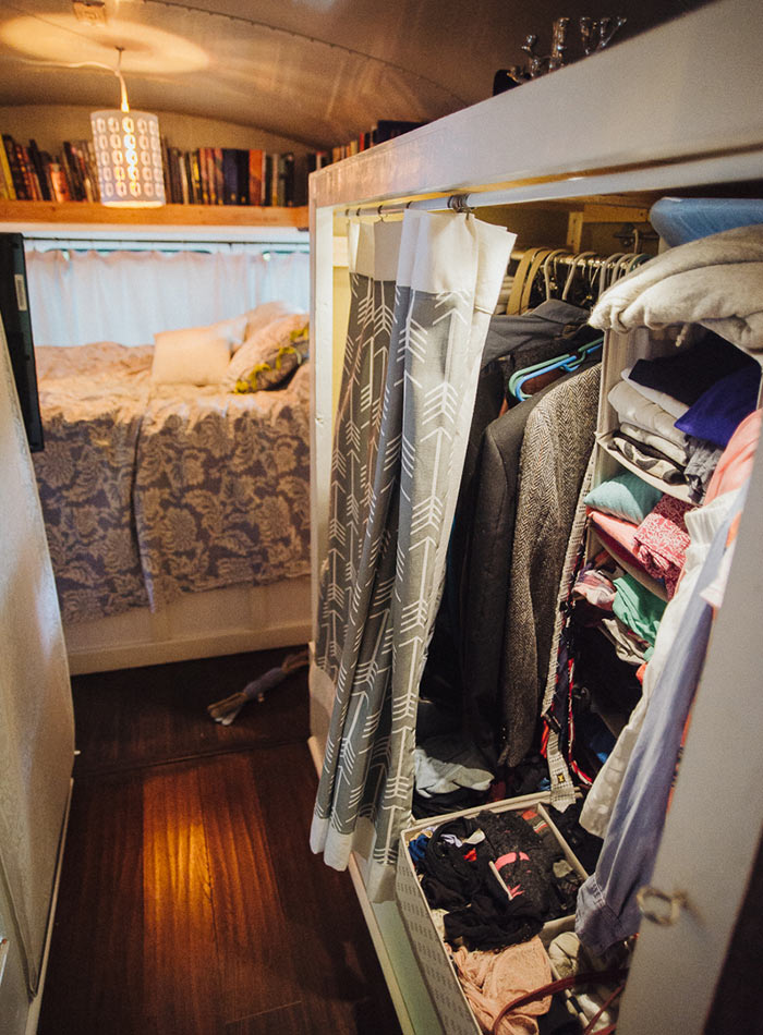 At Home Anywhere: Living on a Bus, Design*Sponge
