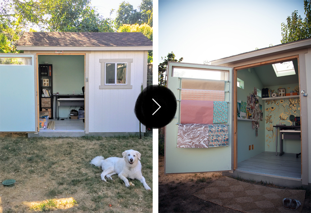 Before & After: An Art Studio Garden Retreat, on Design*Sponge