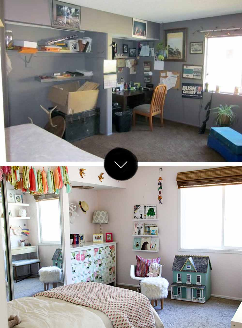 Before & After: A Modern Bohemian Fixer-Upper in Southern California, on Design*Sponge