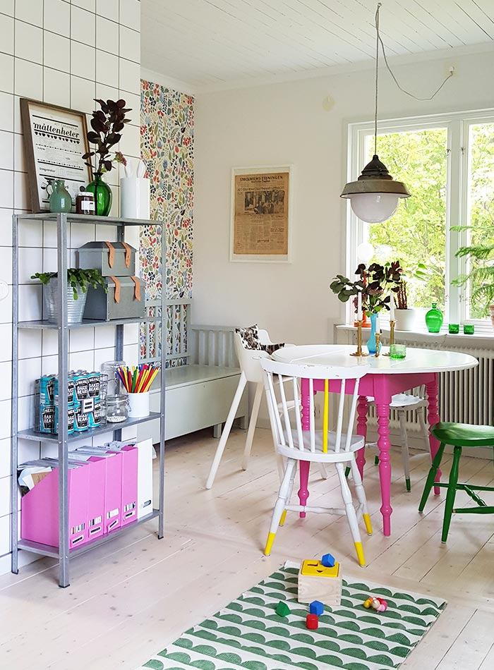 This Swedish Nest Egg Gushes Color and Pattern, Design*Sponge