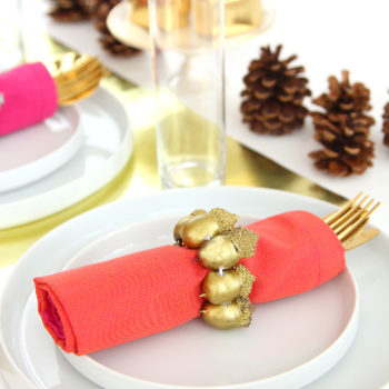 DIY Metallic Acorn Napkin Ring