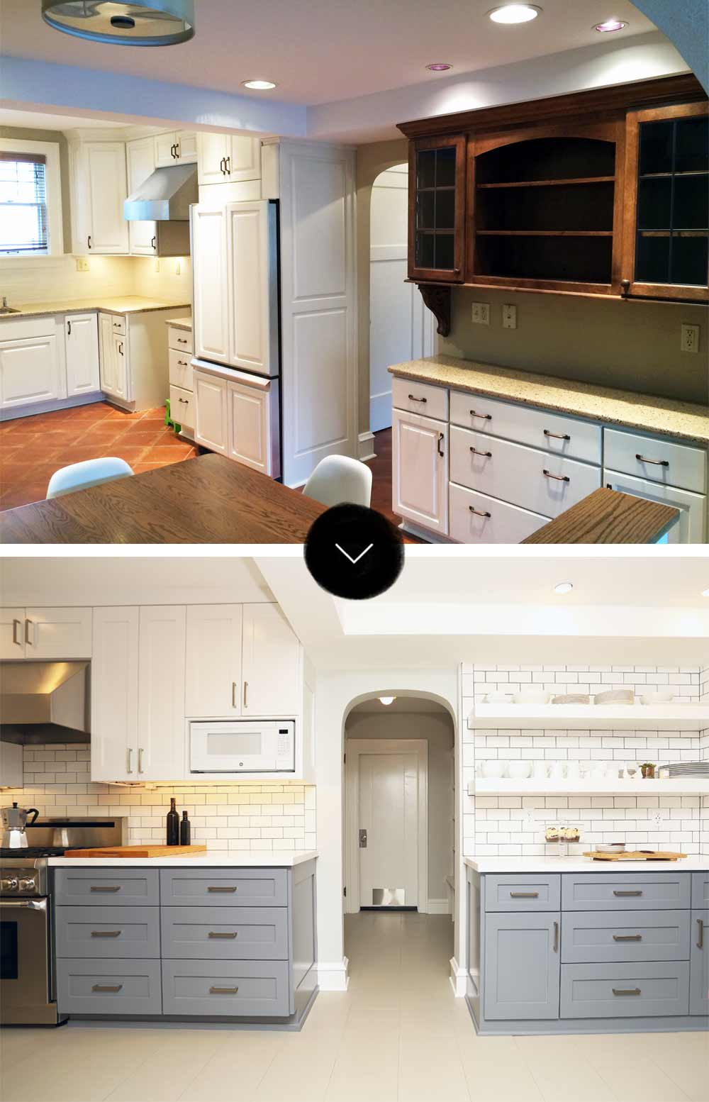 Before & After: A Light and Bright Tudor Remodel, on Design*Sponge