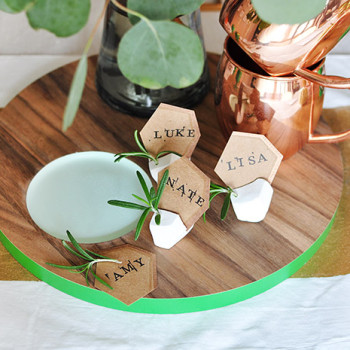 Clay Placecard Holder