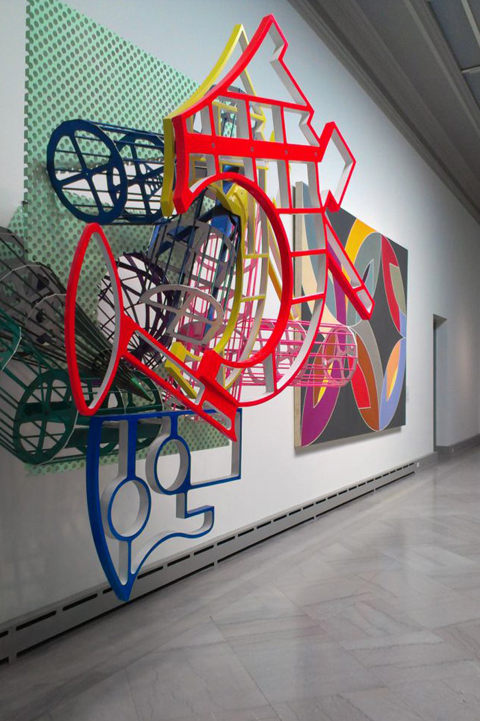 Been a bit smitten with his work after an opportunity to meet Frank Stella came through my employer Toledo School for the Arts. Here's an immense piece of his at TMA.