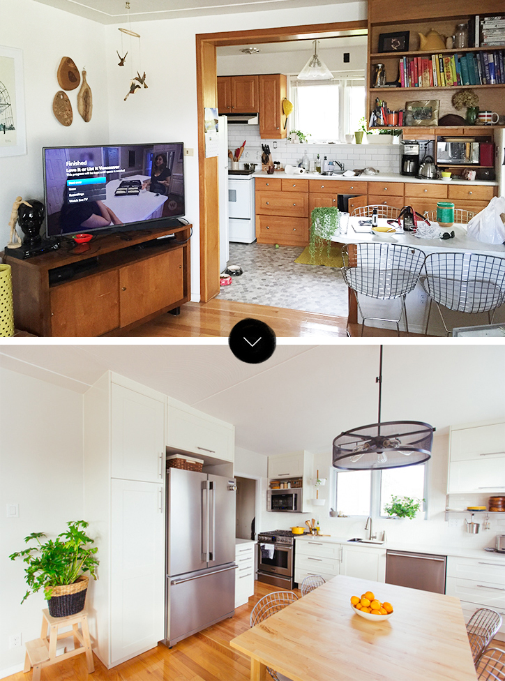 kitchen design photos before and after. Before And After  Sabrina S Open Plan Game Changer Renovation Design Sponge