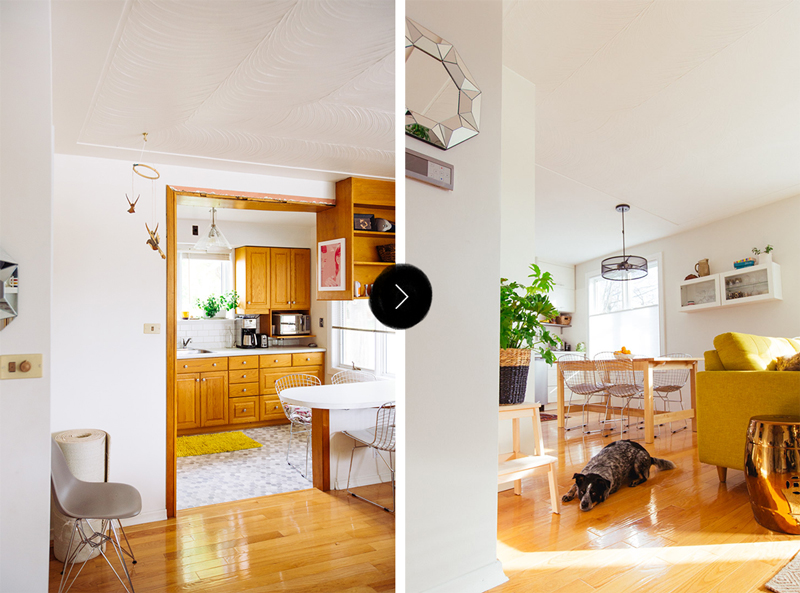 Before And After Sabrina S Open Plan Game Changer Renovation Design Sponge