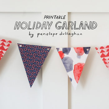 Printable Freebie: Holiday Garland