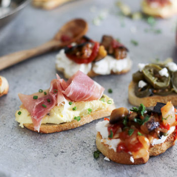 Sarah and Sheila's Pickled Crostini Toppings