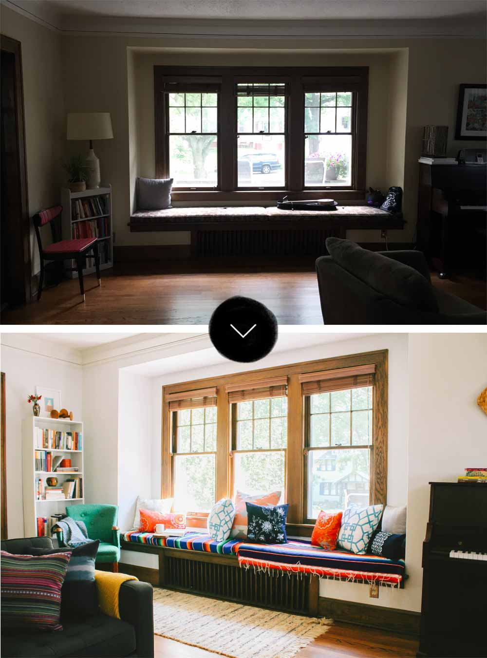 Before & After: A Grown-Up Bohemian Makeover, on Design*Sponge