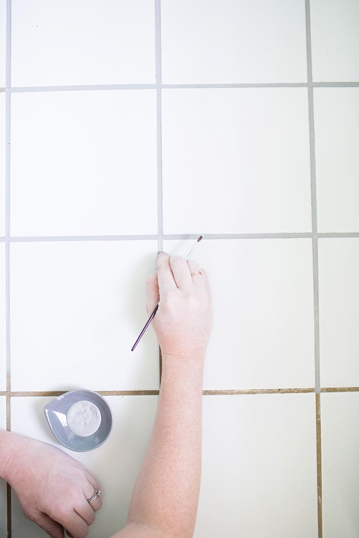 Diy Project How To Recolor Your Grout Designsponge