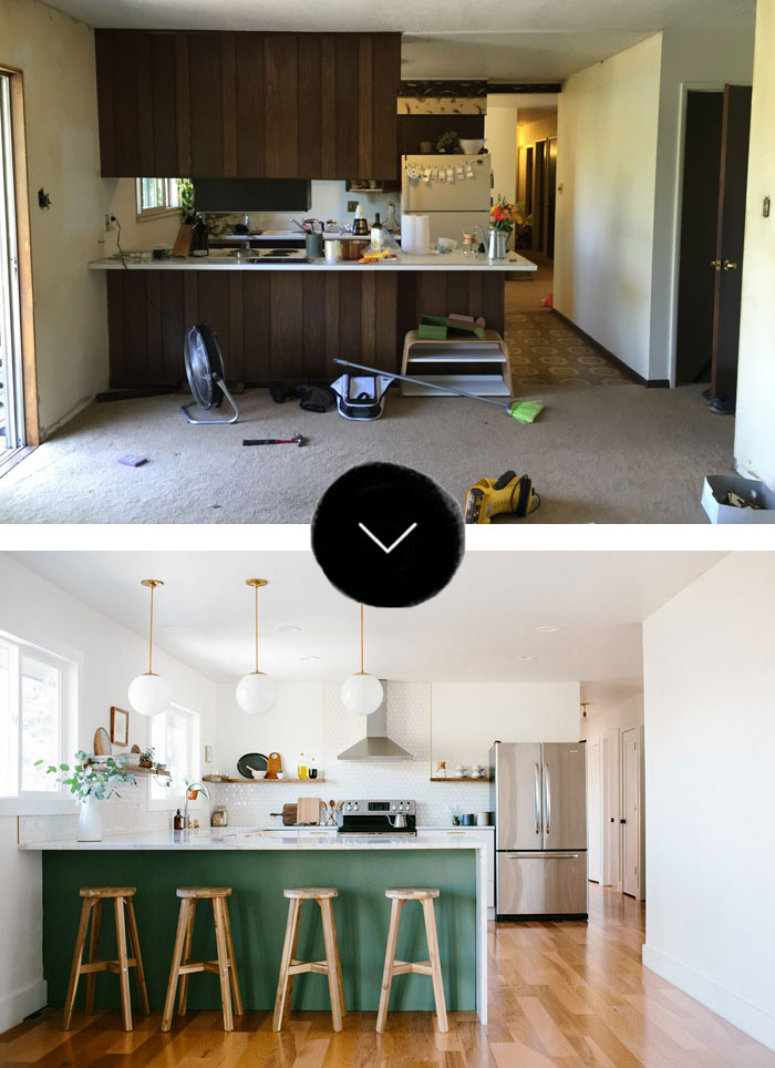 Before Amp After A Fixer Upper Gets A New Kitchen In Denver
