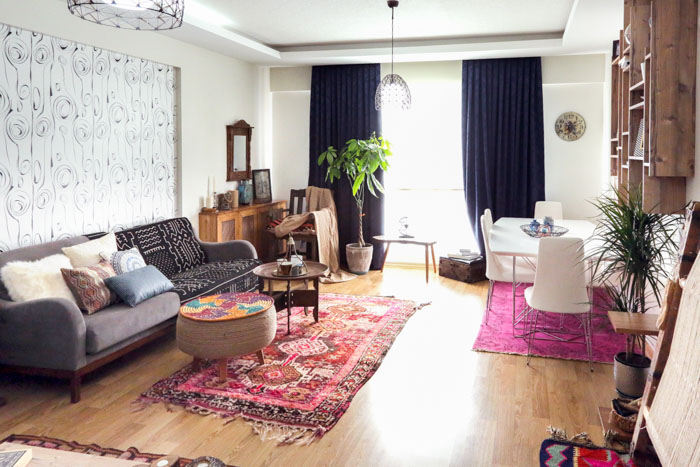 In Turkey A Home Layered With Prints Colors And Kilims