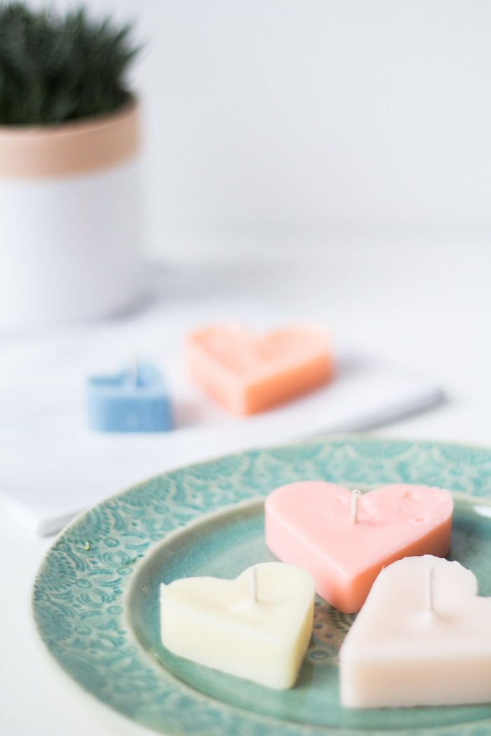 DIY Heart Tea Candles