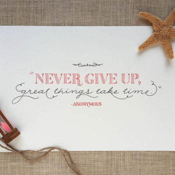 Never Give Up + Best of the Web