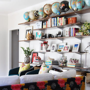 DIY Projects & Pops of Color Modernize a Virginian Colonial