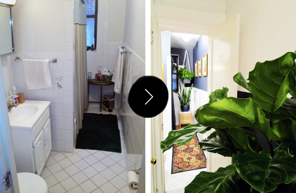 Before & After: A Dramatic Redecoration in Astoria, on Design*Sponge