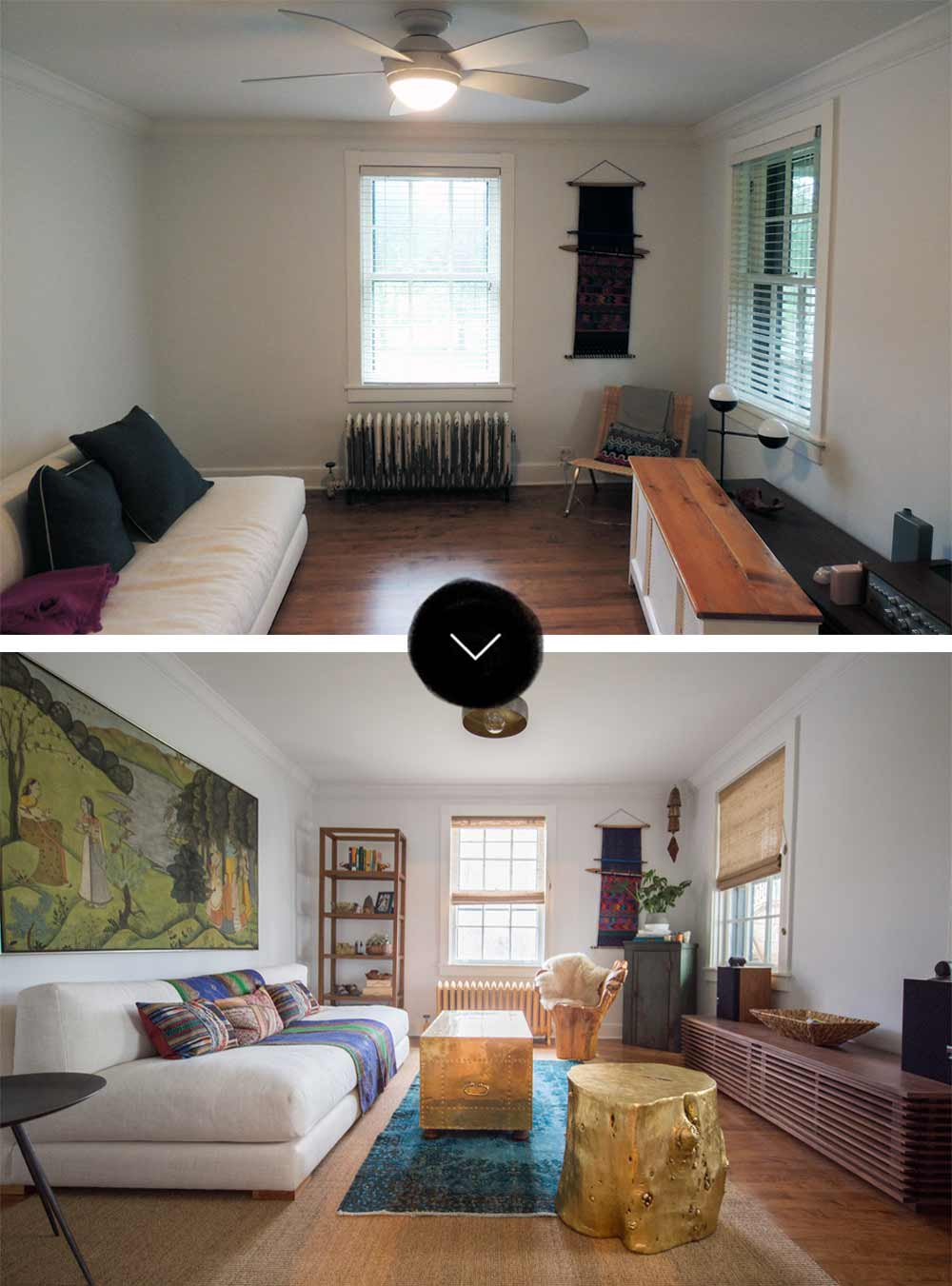 Before & After: A Unique Homestead Coach House Makeover, on Design*Sponge
