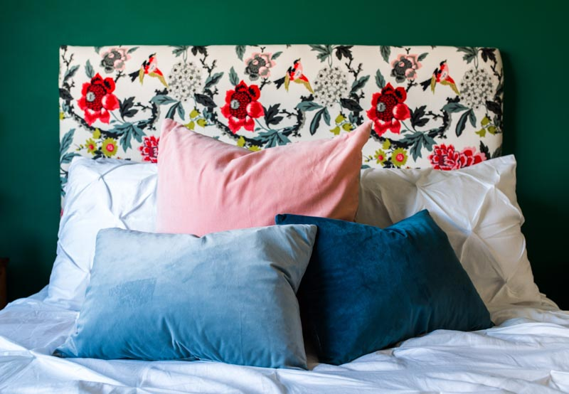 Before & After: A Colorful Guest Bedroom Makeover in the Midwest   Design*Sponge