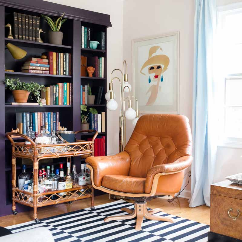 Balancing Retro Style With Color in a Small 1960s Bungalow