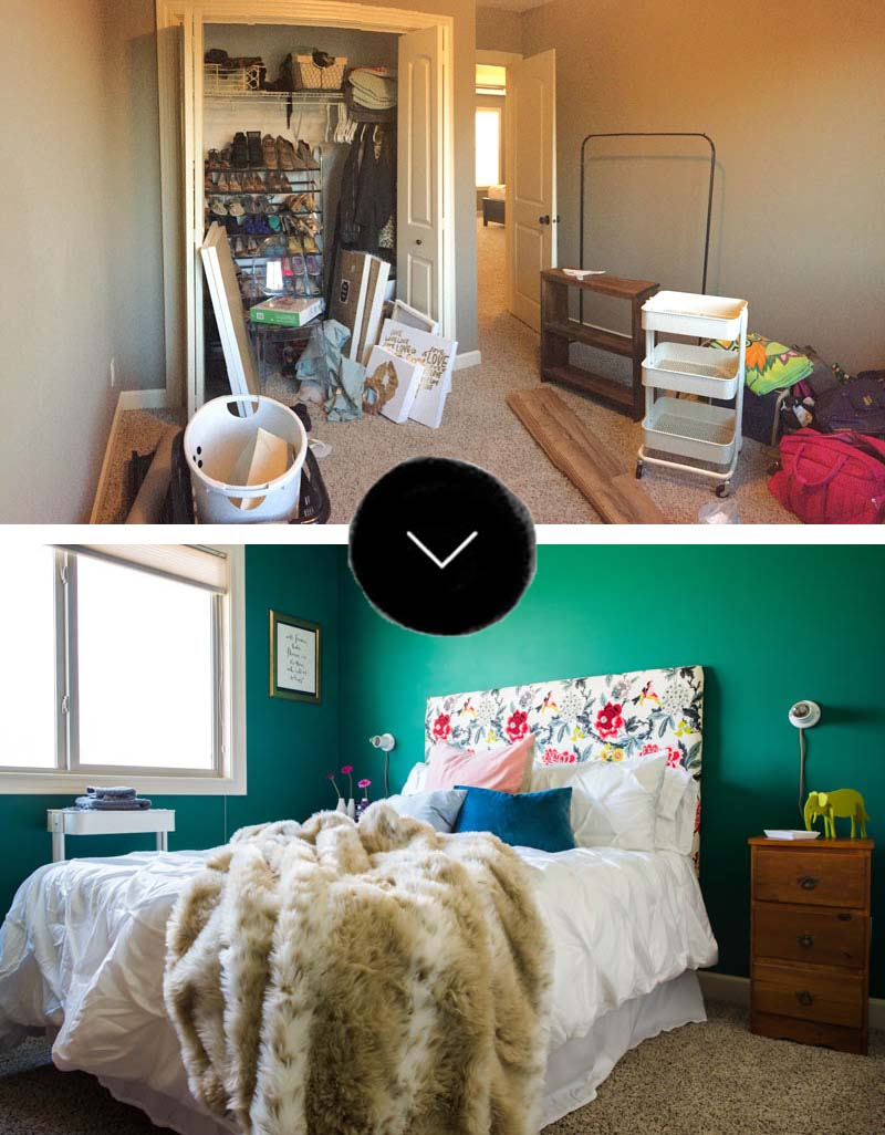 before and after bedroom makeover pictures before amp after a colorful guest bedroom makeover in the 20299